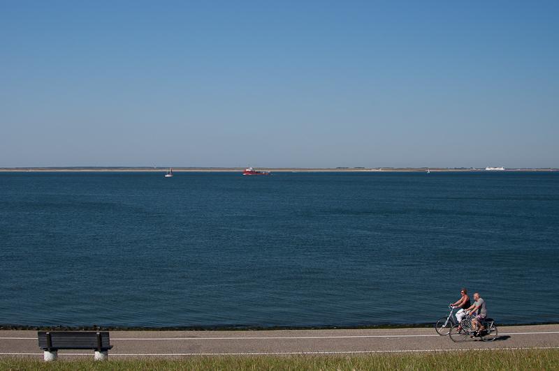Den Helder met het uitzicht naar Texel.