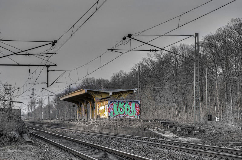 Am bahnhof,  Düsseldorf,  Duitsland