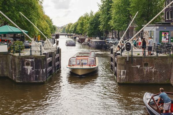 Nieuwe Haarlemmersluis,  Singel,  Amsterdam