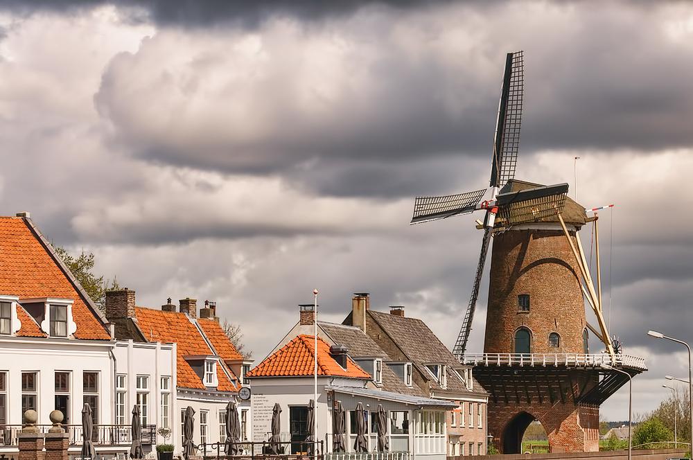 De korenmolen Rijn en Lek,   Wijk bij Duurstede