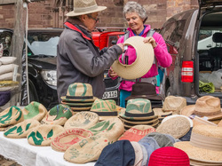 The hats seller