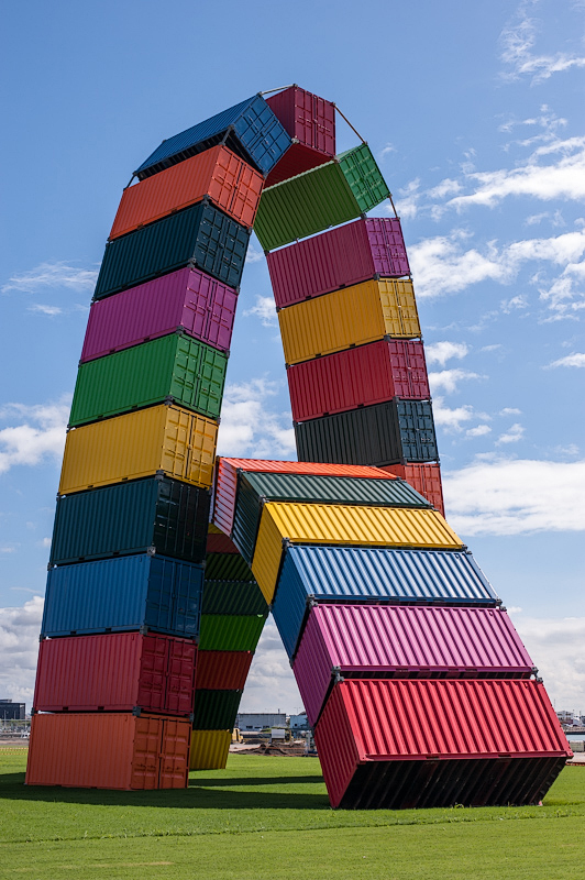 Catène de Containers,  Le Havre