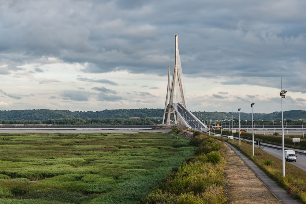 Le pont de Normandie,  France