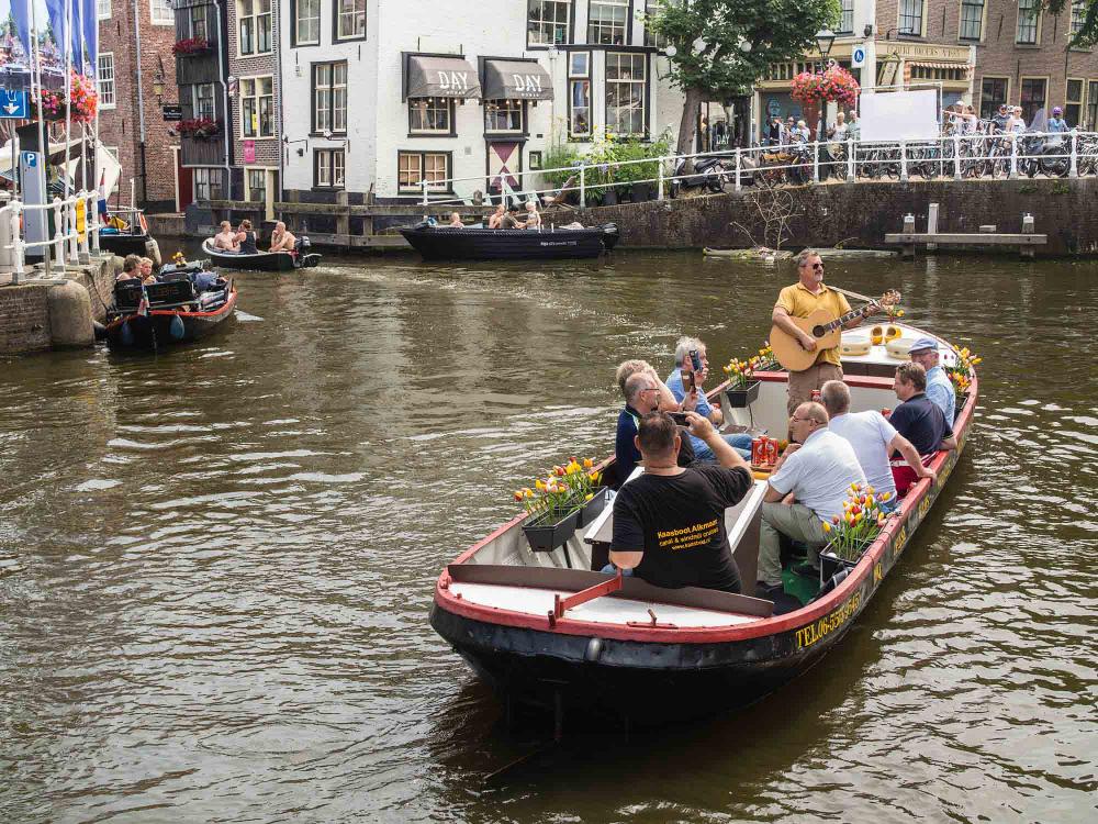 The Netherlands,  Alkmaar, Voordam, de kaasboot