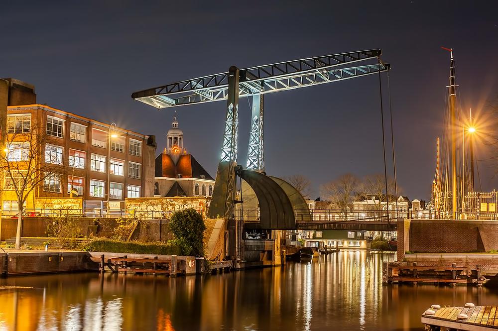 The Netherlands,  Amsterdam, Entrepotdoksluis brug