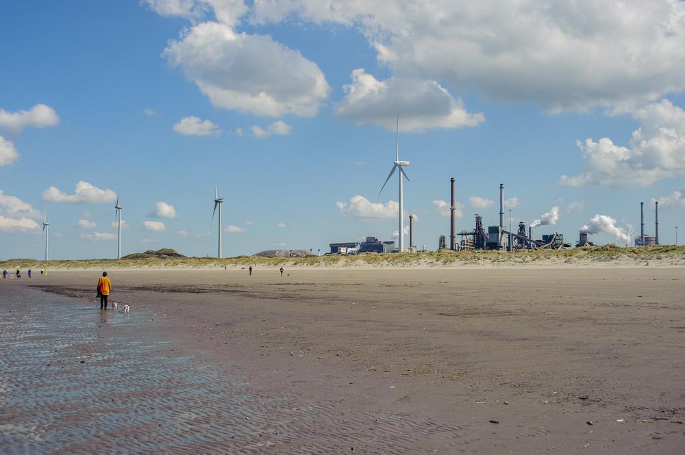 The Netherlands, Wijk aan Zee, Noordpier beach