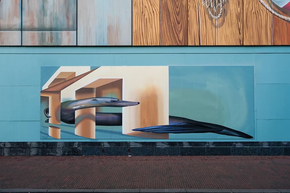 The Netherlands,  Den Helder, 3D Street Art.