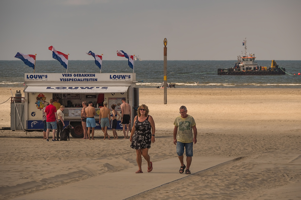The Netherlands,  IJmuiden, North Sea Beach