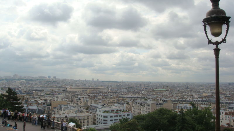 Paris view from the Sacre Coeur in Montmartre