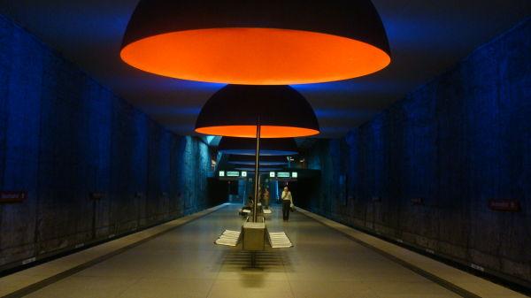 Crazy modernist train station in Munich