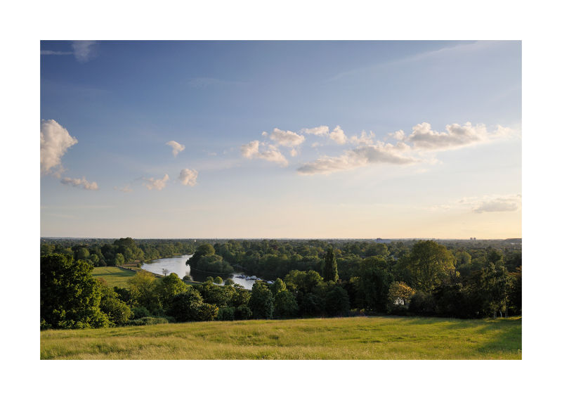 View from Richmond Hill in Surrey, England