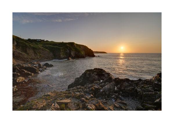 Sunset over the sea near Trefin, Pembrokeshire
