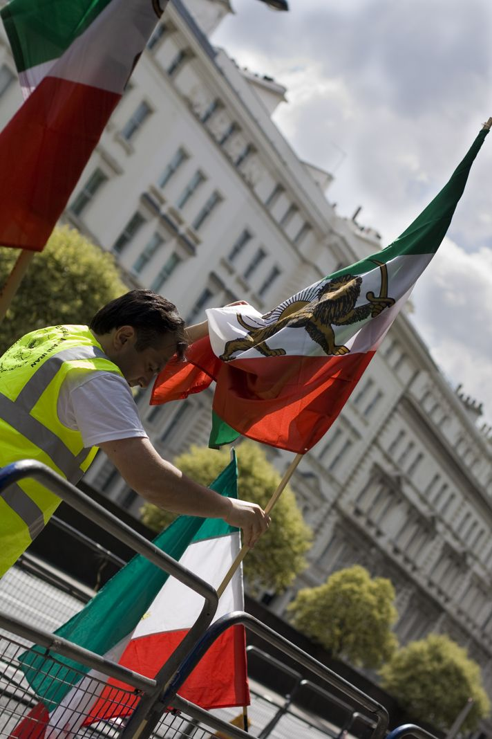 Protest outside Iranian Embassy