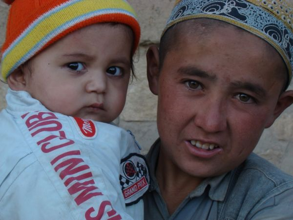 A brother and sister in Faizabad of Badakhshan