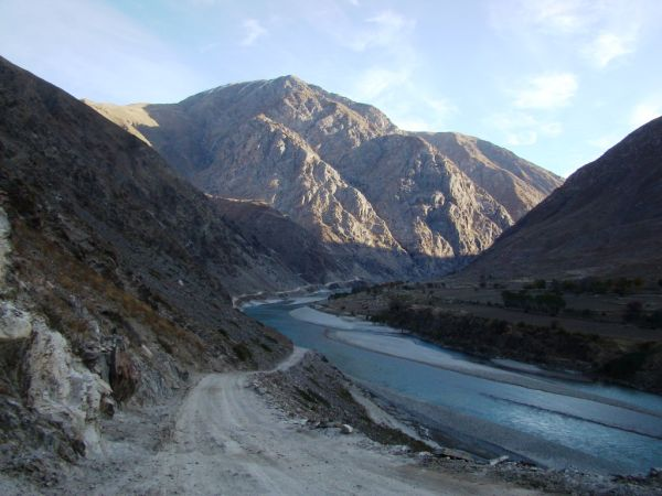 The road to Baharak District of Badakhshan