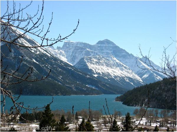 glacier lake, Waterton, Rockies, Canada.