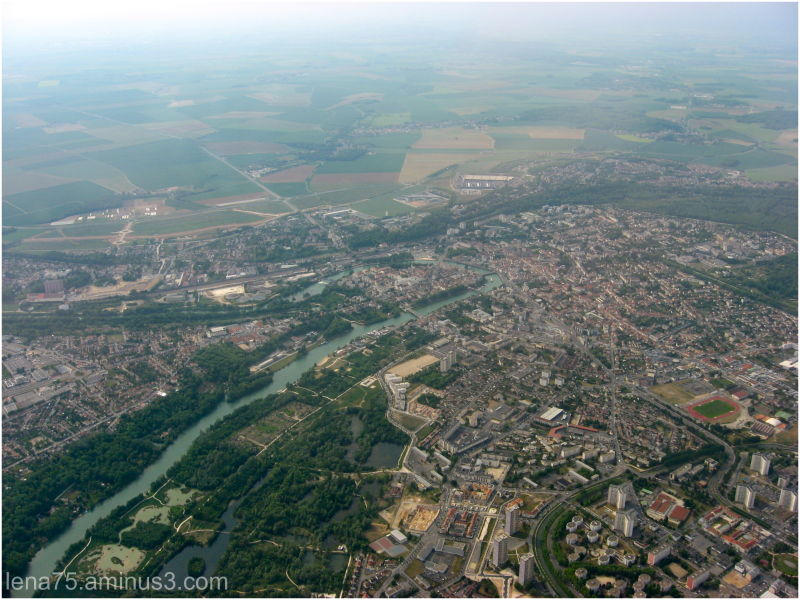 France from above.