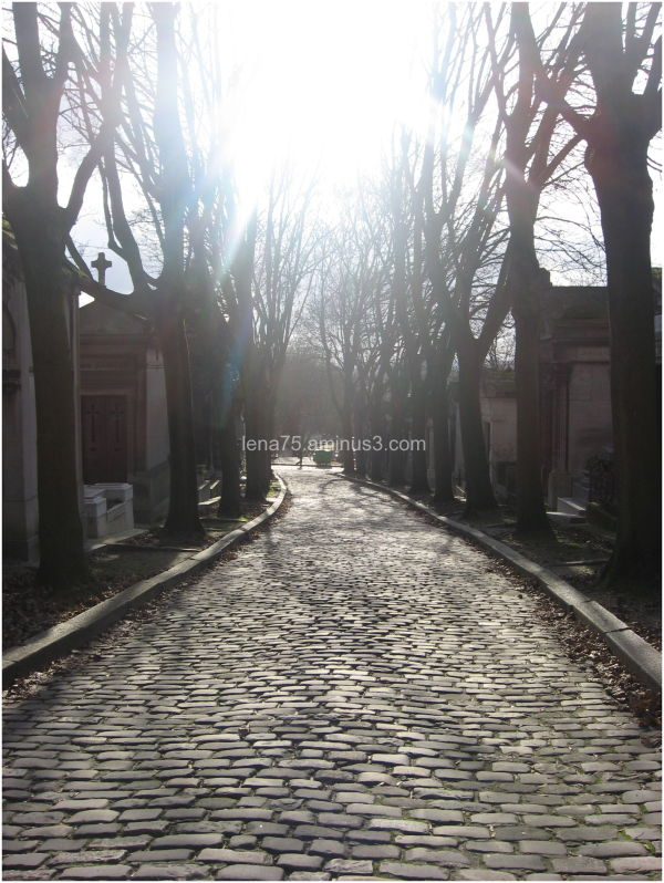 On a cold anf bright day at Pere Lachaise.