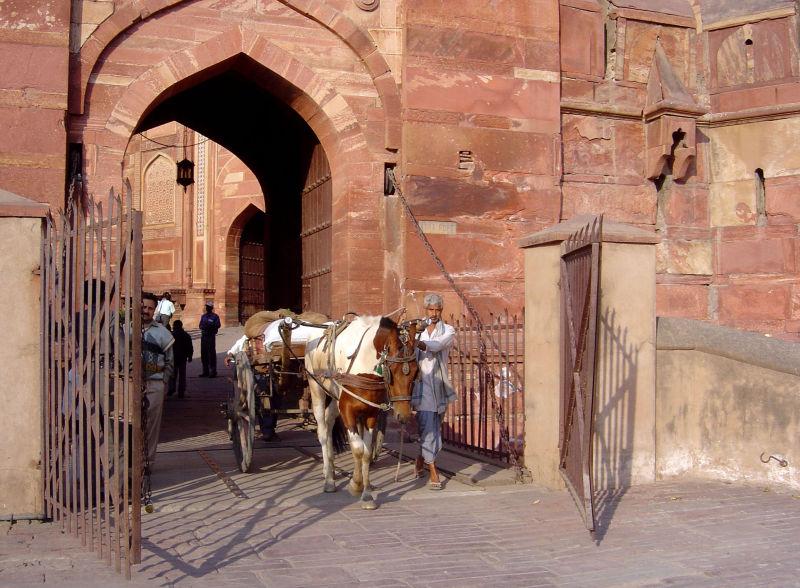 L'entrée du fort d'Agra