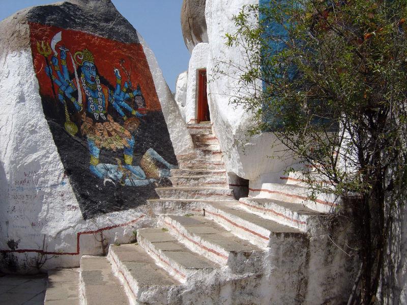 Un temple perdu dans la forteresse de Golgonda