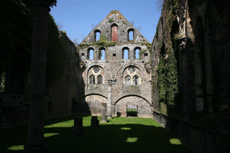 les restes de l'abbaye de Villers