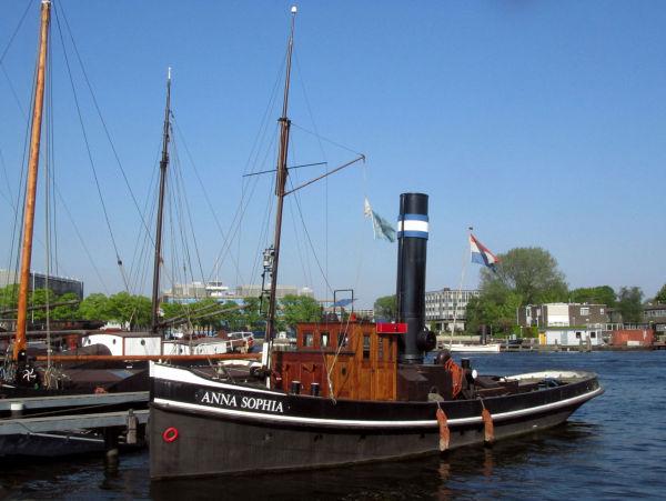 Les péniches d'Amsterdam