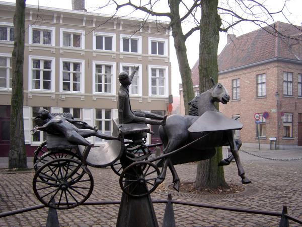 Une place de Bruges