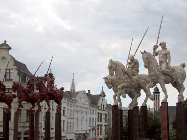 Statues equestres à Bruxelles
