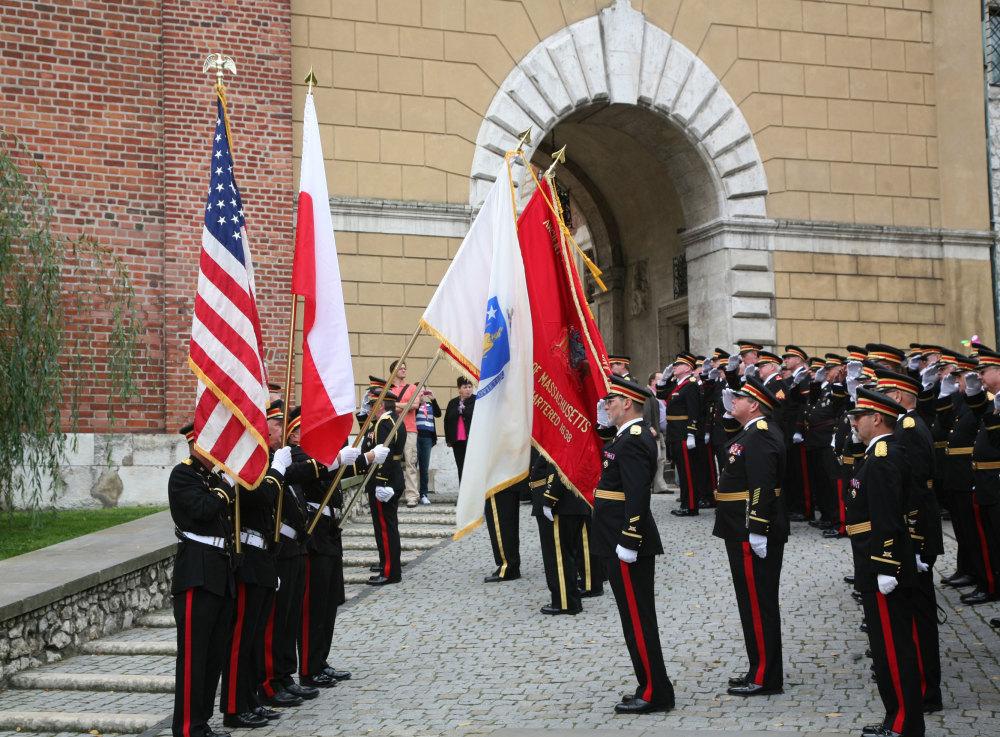 L'entrée de la citadelle de Cracovie