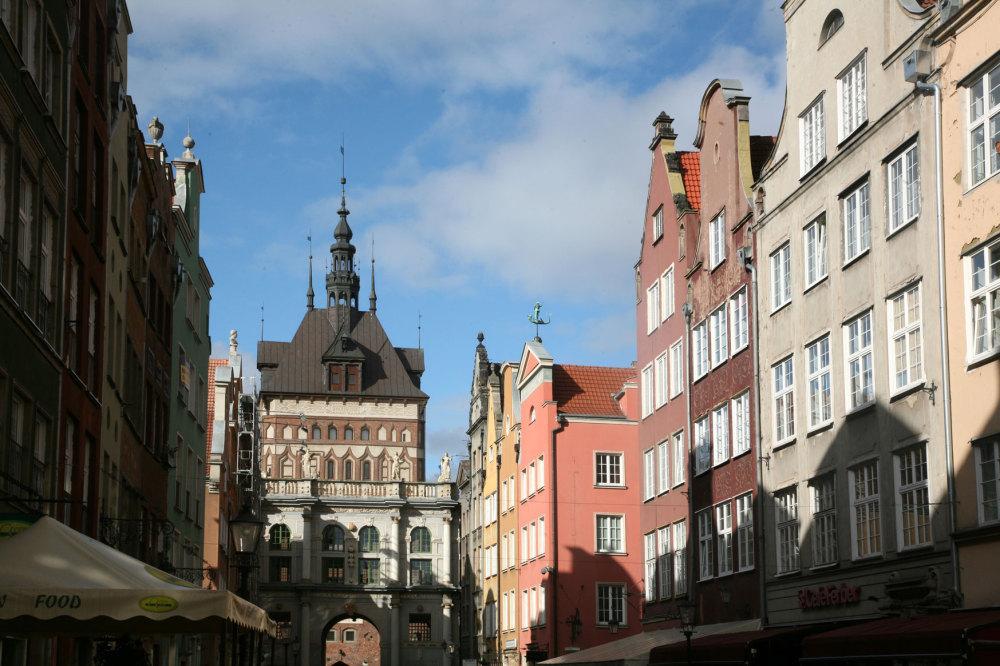 Une rue baroque de Gdansk