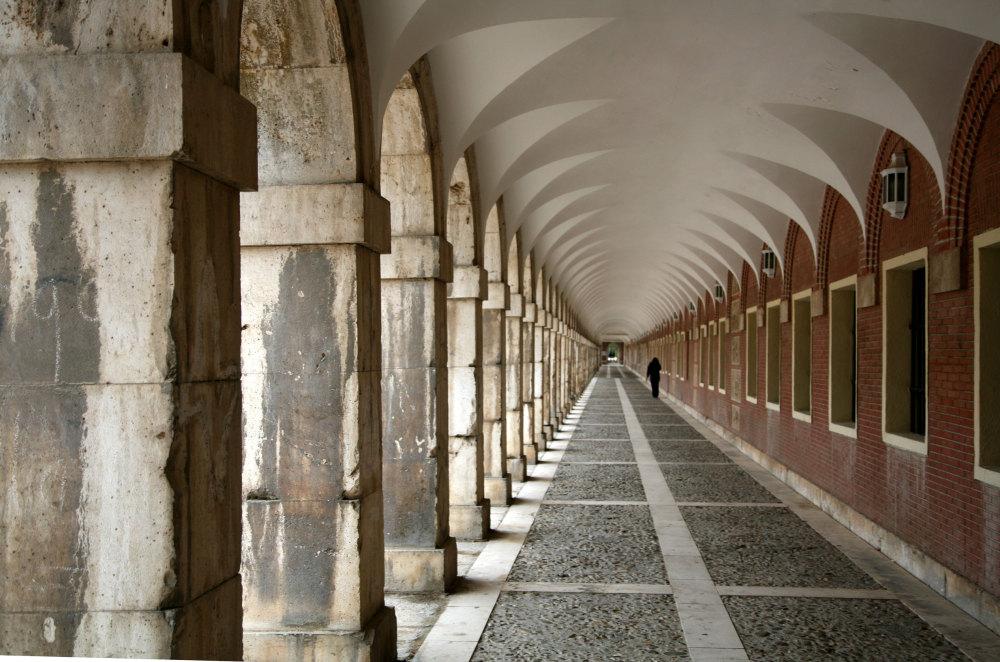 Les galeries du palais royal d'Aranjuez