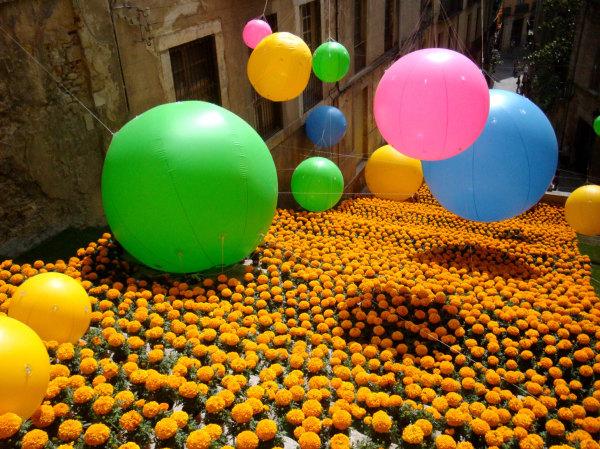La fête des fleurs à Gérone