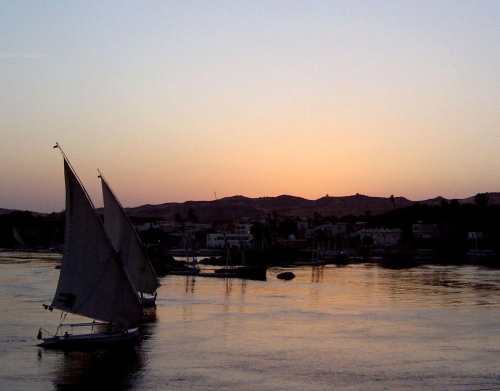 Couche de soleil sur Assouan