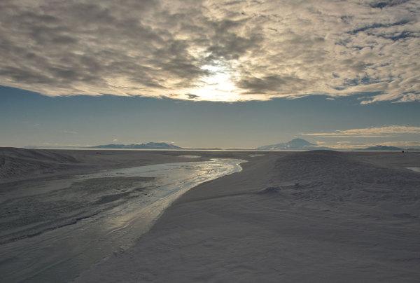 Le mont Erebus au fond de la mer de Ross