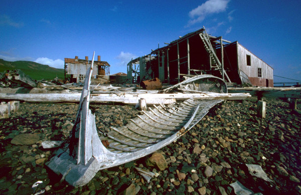Le slipway de l'usine baleinière de Kerguelen