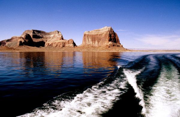 Navigation sur le lac Powell
