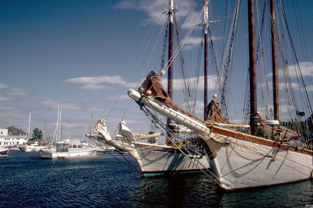 Un port typique De Nouvelle Angleterre