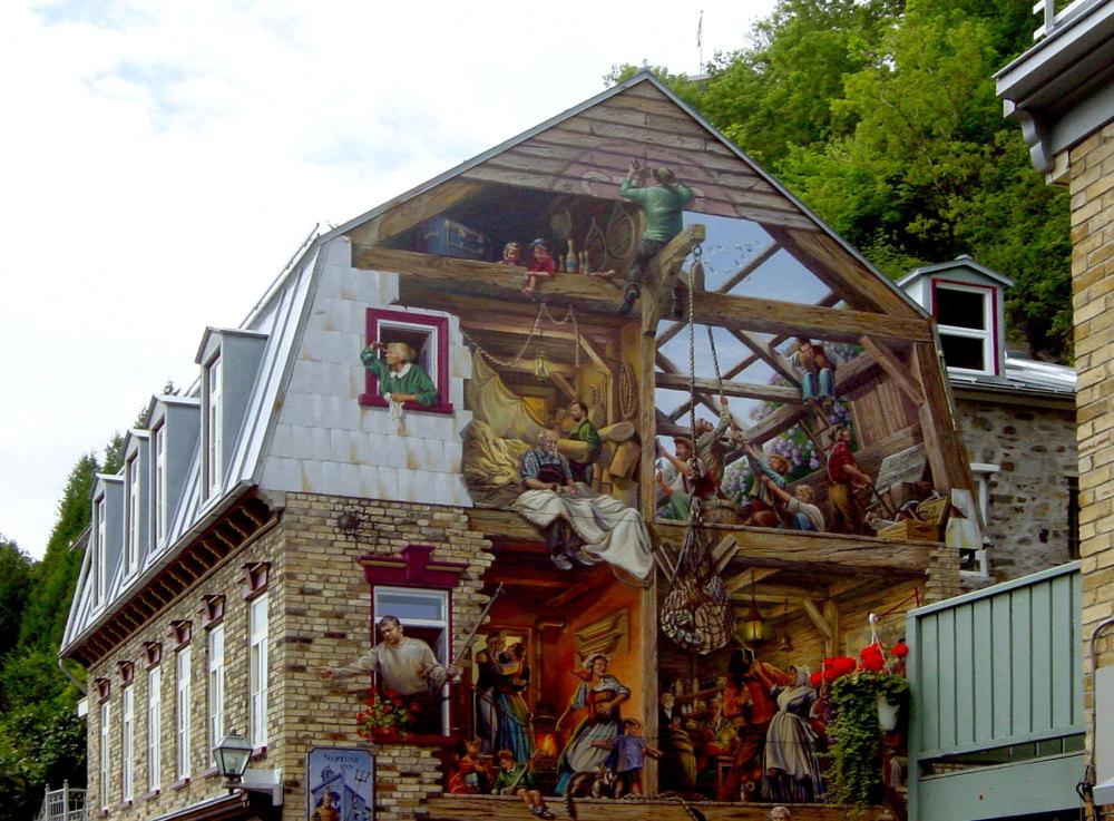 Peinture murale au Quebec