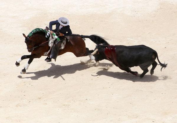 la corrida équestre de la feria de Nimes