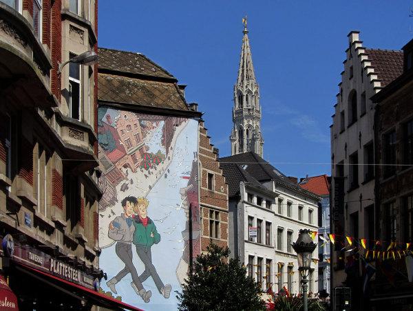 Dans le centre historique de Bruxelles
