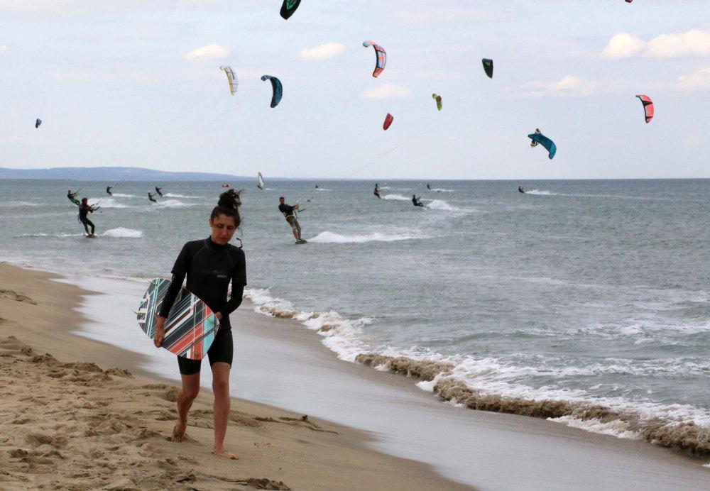 Le spot de Kite surf de La Franqui
