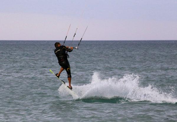 Sur le spot de Kite surf de La Franqui