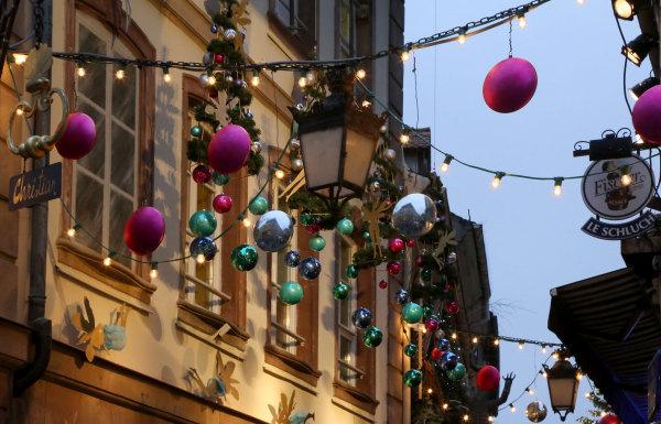 Sur le marché de Noel de Strasbourg