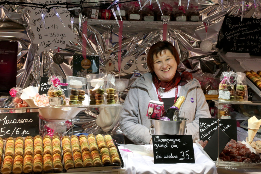 Sur le marché de Noël de Liège