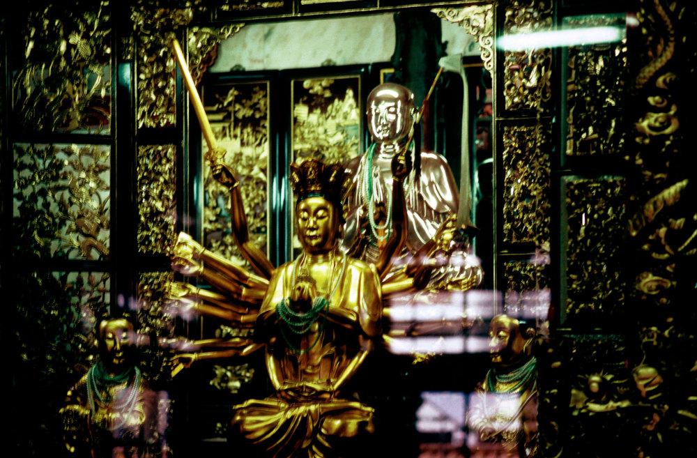 Intérieur de temple balinais