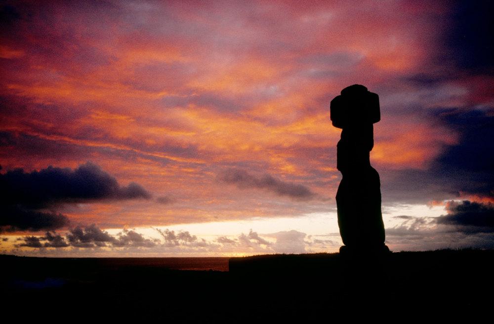 Un moai de l'ile de Paques