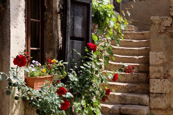 Un escalier de Pérouge