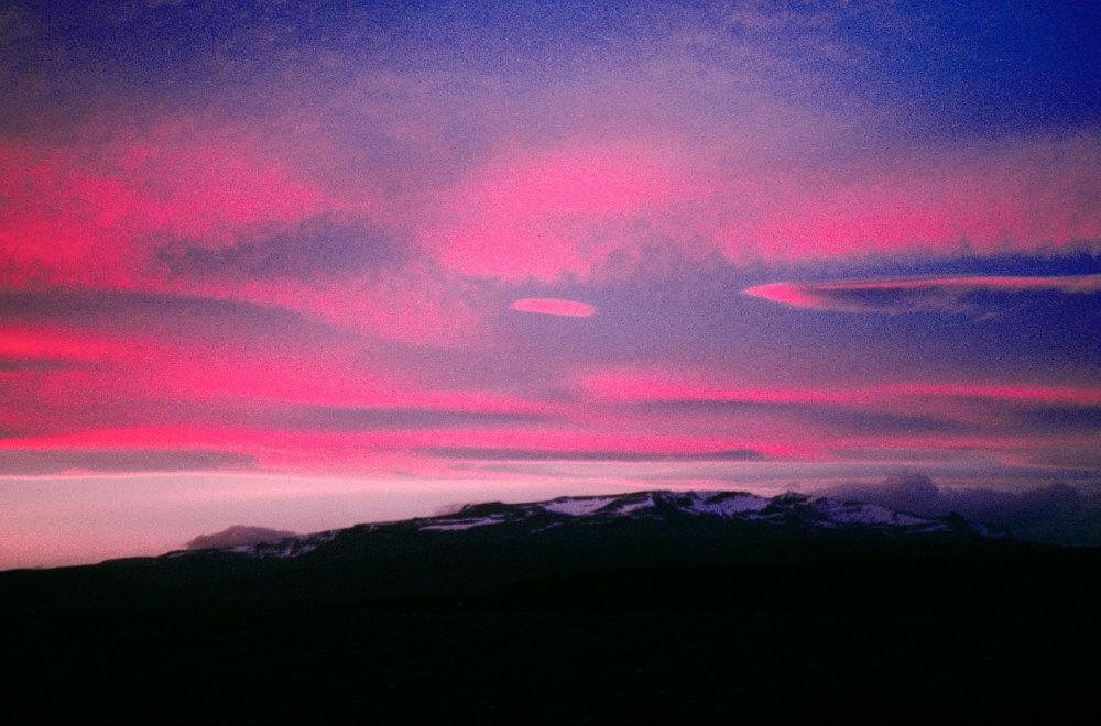 Coucher de soleil sur le mont Crozier