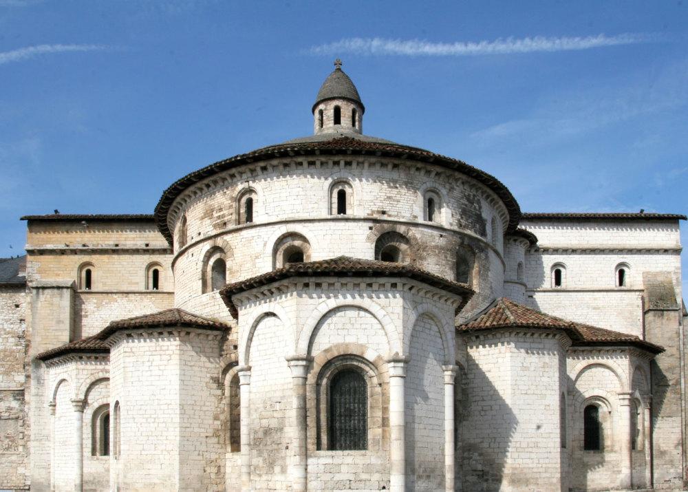 Le chevet de l'église de Souillac