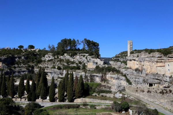 Les restes du chateau de Minerve